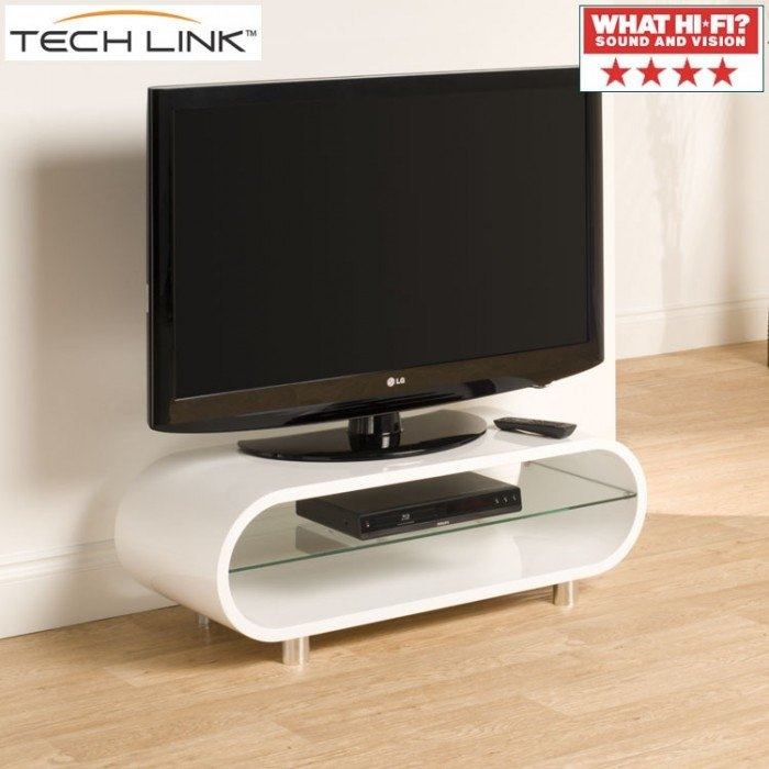 Wonderful Widely Used Techlink TV Stands Sale Throughout Techlink Ovid Ov95w Gloss White Tv Stand (View 7 of 50)