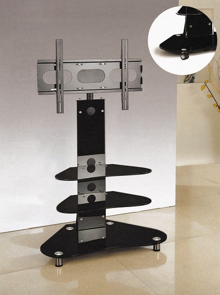 Wonderful Widely Used TV Stands For Corners Throughout High Tv Stand Sl Series 35inch Width Black Glass Tv Stand (Image 50 of 50)