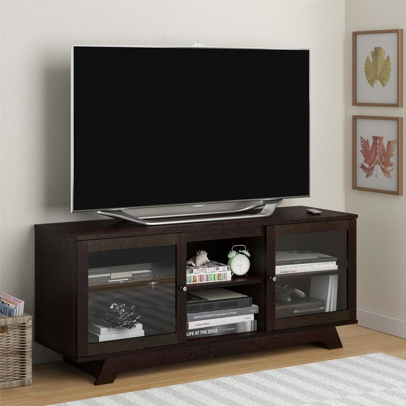 Wonderful Widely Used TV Stands With Back Panel Pertaining To Latitude Run Magnolia 54 Tv Stand Reviews Wayfair (View 44 of 50)