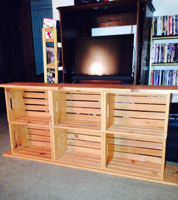 Wonderful Widely Used TV Stands With Bookcases In Best 25 Crate Tv Stand Ideas On Pinterest Cheap Wooden Tv (Image 50 of 50)
