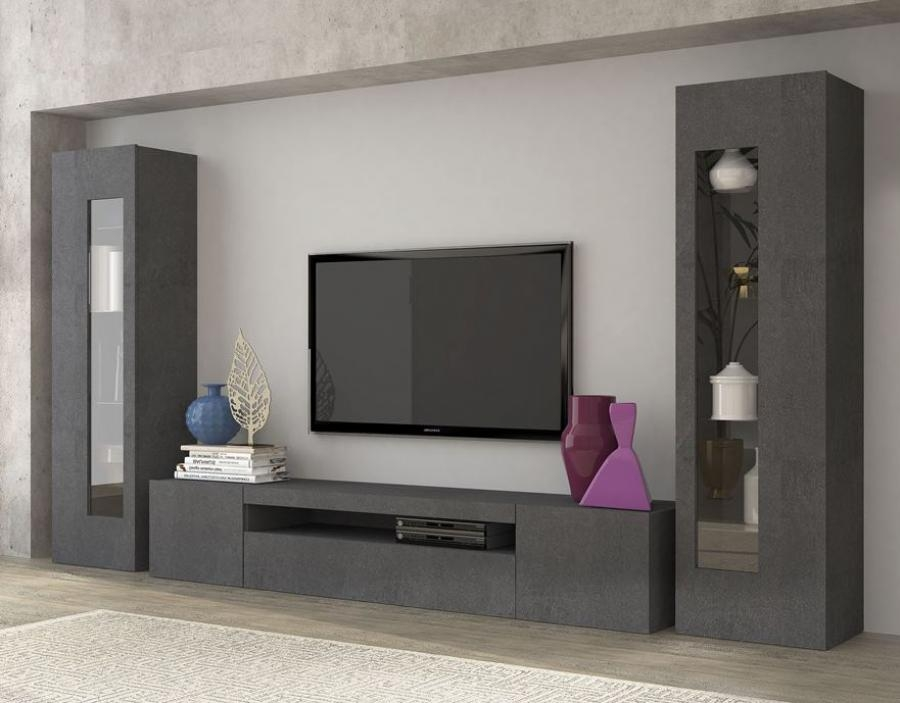 Wonderful Widely Used Wall Display Units & TV Cabinets For Living Room Tv Stands (Image 50 of 50)
