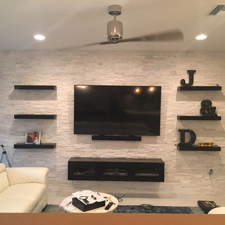 Wonderful Widely Used Wall Mounted TV Stands Entertainment Consoles Intended For Best 25 Floating Entertainment Center Ideas On Pinterest (View 15 of 50)