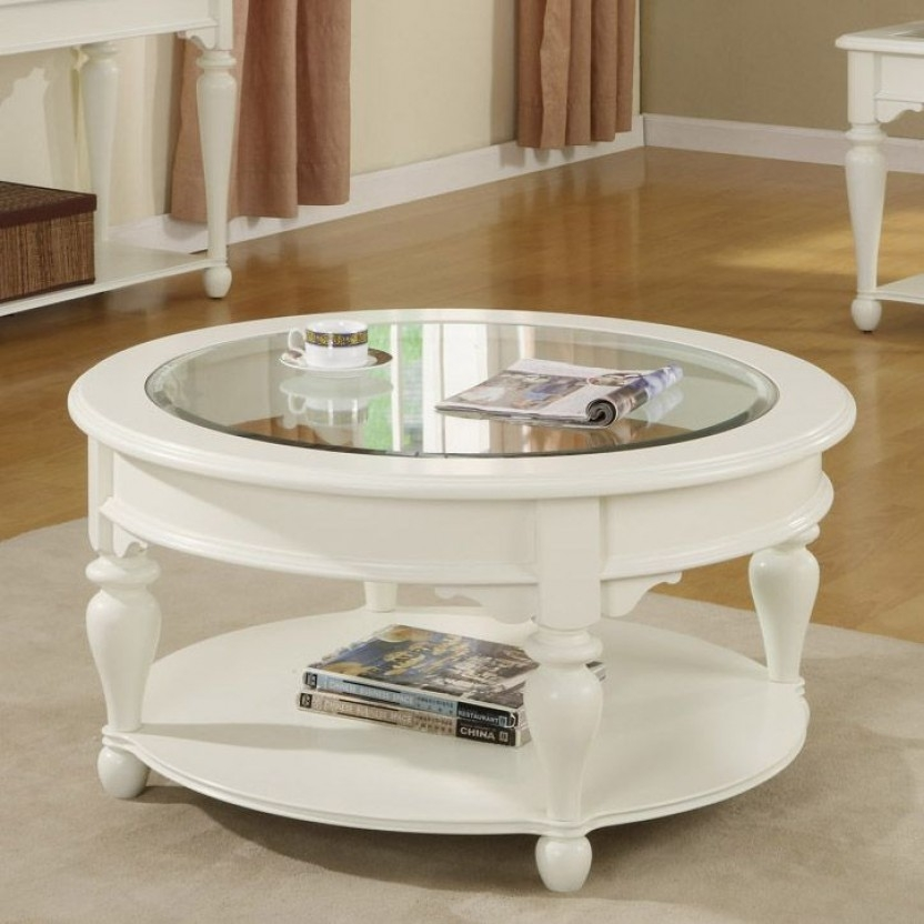 Wonderful Widely Used White Circle Coffee Tables Within Coffee Table Amusing White Round Coffee Table White Tables White (Image 50 of 50)