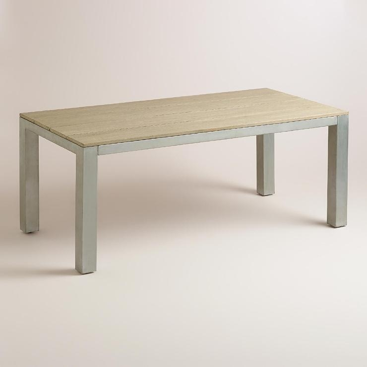Wood And Metal Dining Table | Fpudining In Dining Tables With Metal Legs Wood Top (Image 19 of 20)