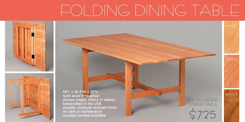 Wood Folding Dining Table – Solid Wood Folding Dining Table, Wood Within Wood Folding Dining Tables (Image 19 of 20)