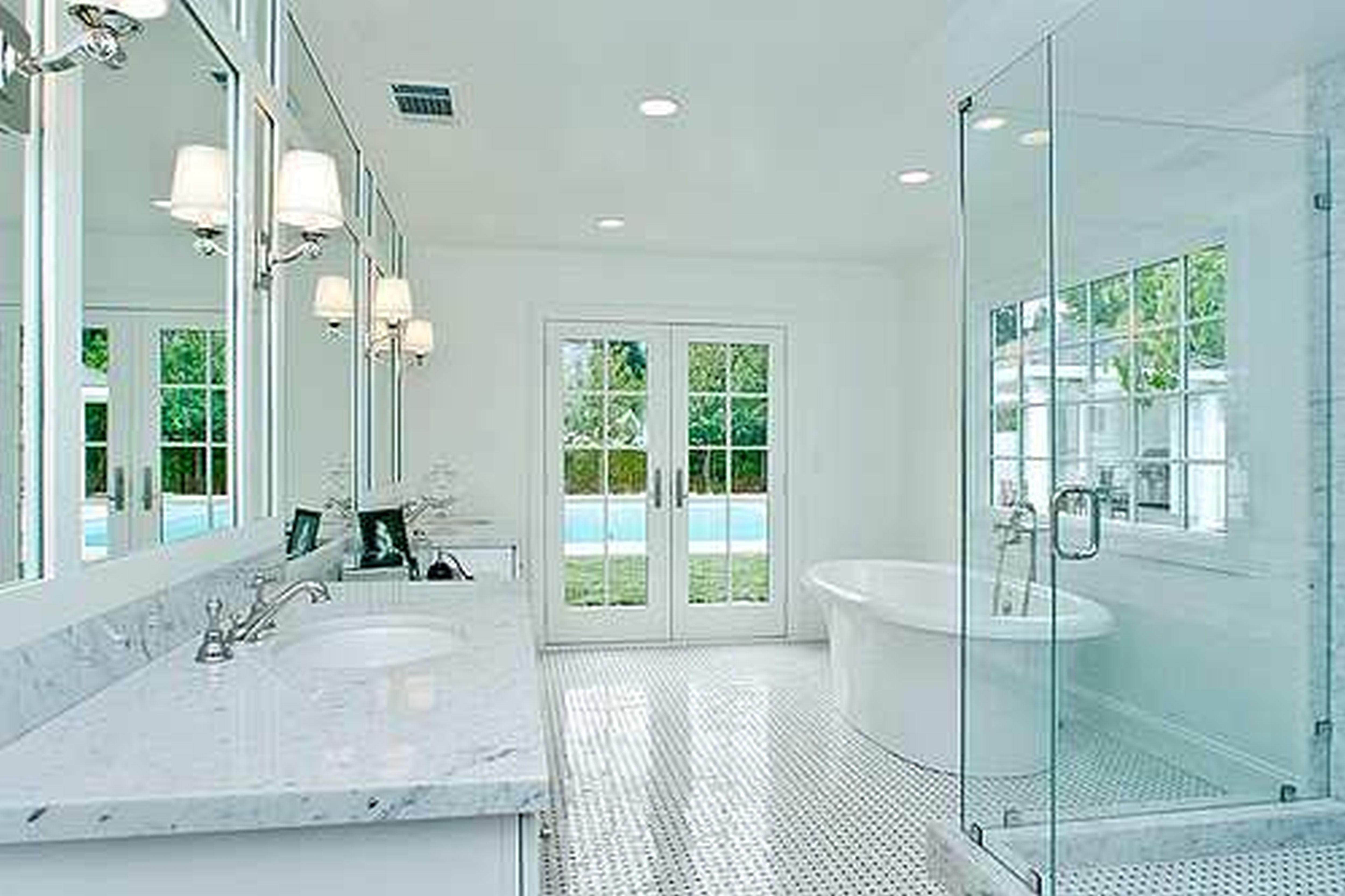 Wood Framed Mirrors Mirrored Frames Large Bathroom Mirror Inch Within Long Frameless Mirror (Image 20 of 20)