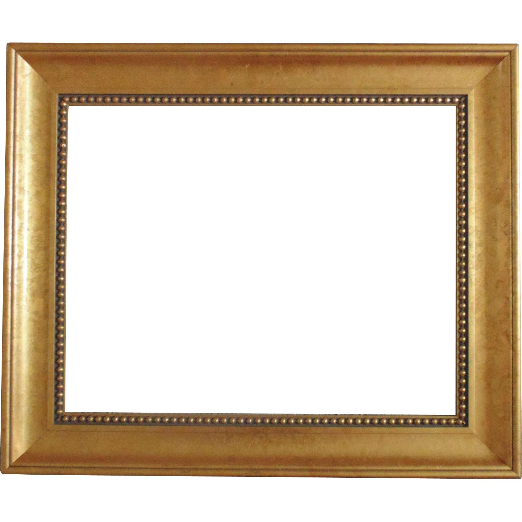 Wood Picture Frame For Print / Painting / Mirror Vintage Gold Gilt Throughout Gold Gilt Mirror (Image 20 of 20)