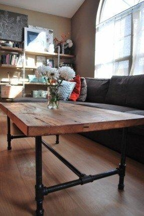 Wood Top Coffee Table Metal Legs – Foter In Dining Tables With Metal Legs Wood Top (View 12 of 20)