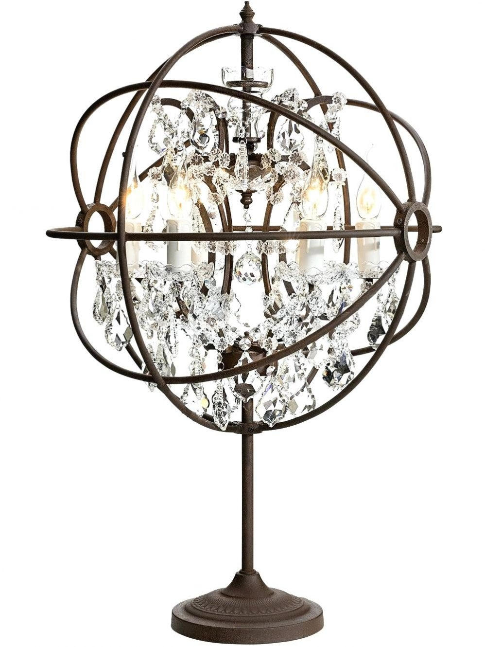Wooden Chandelier Lighting Mini Chandelier Table Lamp Edison Inside Small Crystal Chandelier Table Lamps (Image 25 of 25)