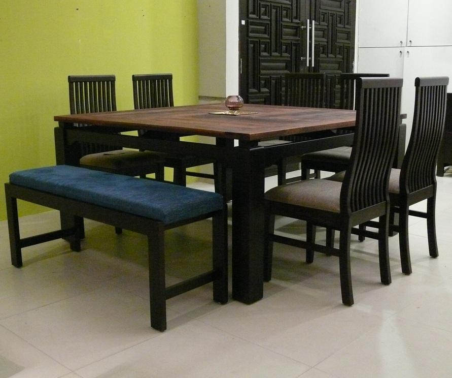 Wooden Dining Table Designs India – Destroybmx Throughout Six Seater Dining Tables (Image 19 of 20)