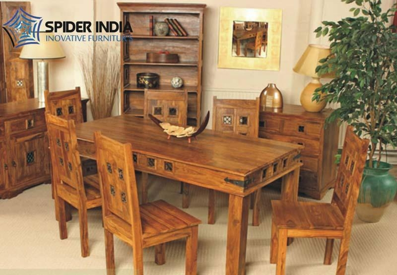 Wooden Dining Table Set,sheesham Wood Dining Table Set Exporter Pertaining To Sheesham Wood Dining Tables (Image 19 of 20)