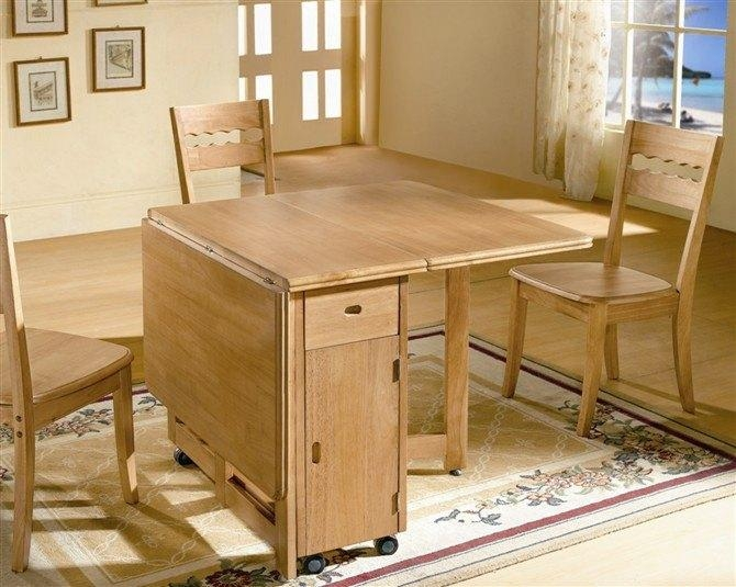 Wooden Folding Dining Table – Sheesham Wood Folding Dining Table Intended For Wood Folding Dining Tables (Image 20 of 20)