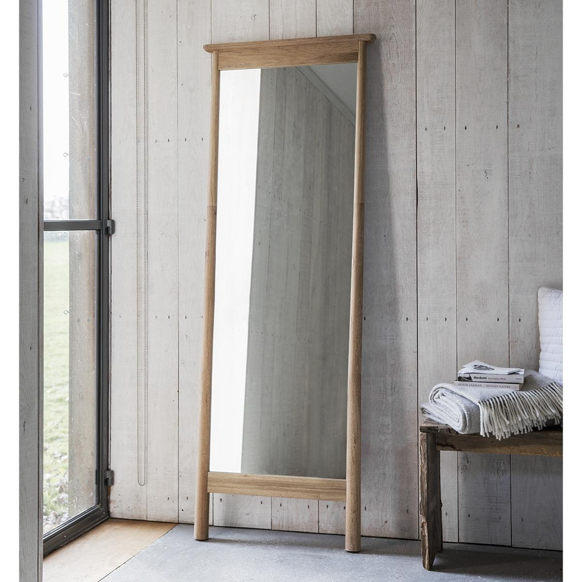 Wooden Framed Leaner Mirror 174 X 64Cm Wooden Framed Leaner Mirror Regarding Wooden Mirror (Image 15 of 20)
