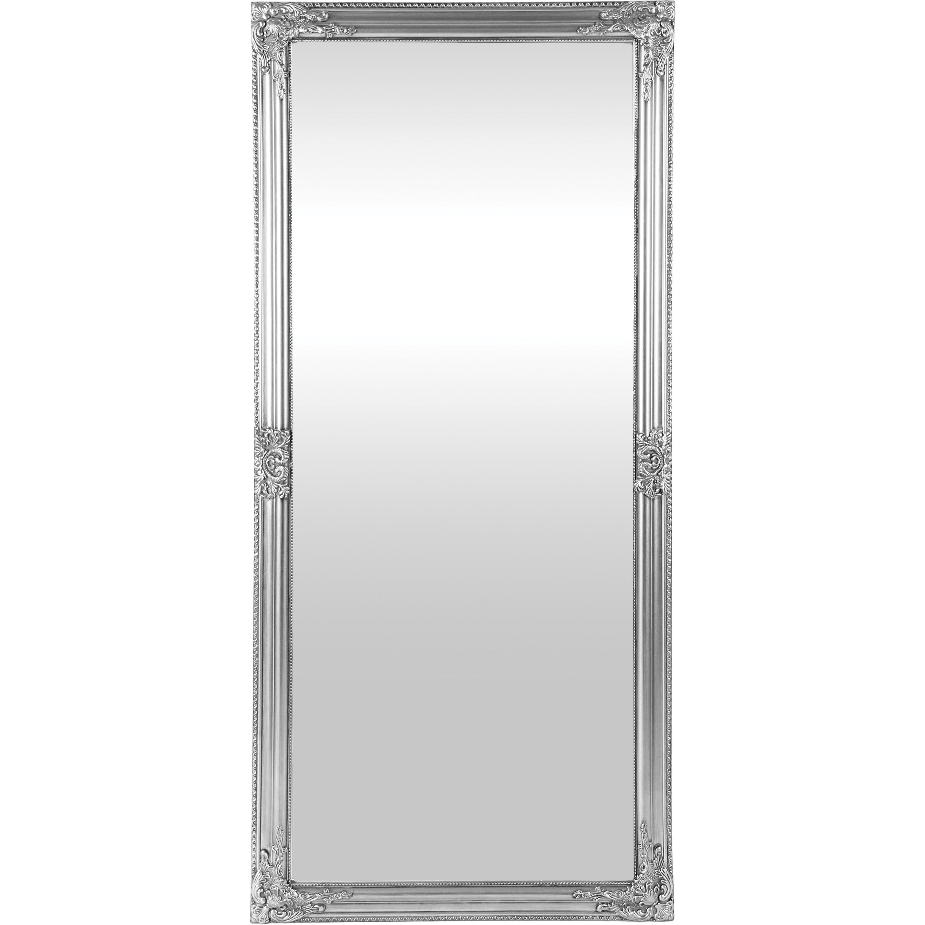Wooden Framed Mirror (Silver) Intended For Antique Silver Mirror (View 14 of 20)