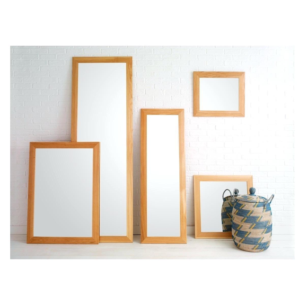 Wooden Full Length Mirroroak Framed Wall Mirror Oak – Shopwiz For Large Oak Mirrors (View 9 of 20)