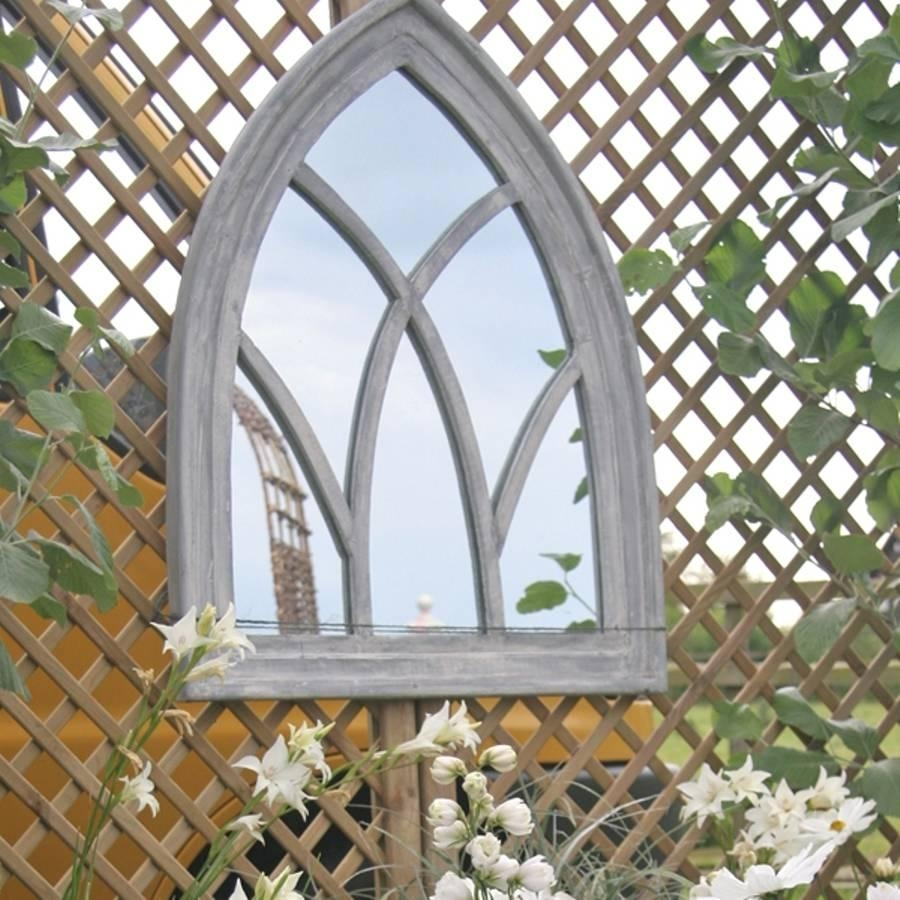 Wooden Gothic Arch Mirror | Vanity Decoration Intended For Gothic Garden Mirrors (Image 20 of 20)