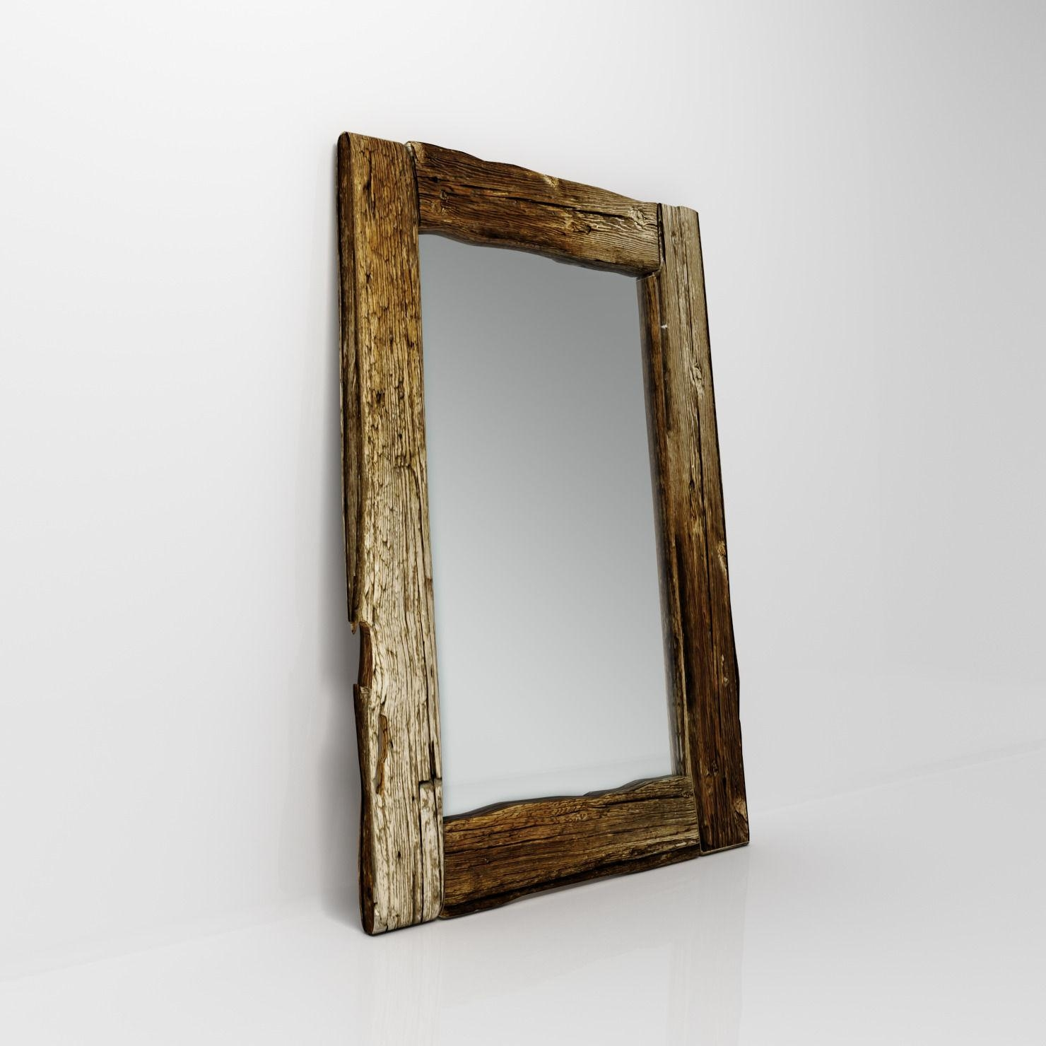 Wooden Mirror 3D Model Max Obj Fbx Mtl Within Wooden Mirror (Image 17 of 20)