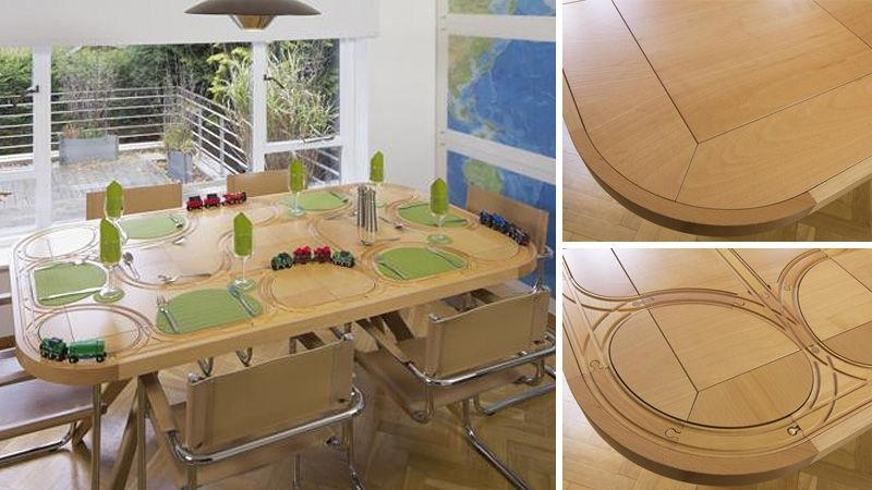 Wooden Train Dining Table Redefines Playing With Your Food Intended For Railway Dining Tables (Image 19 of 20)