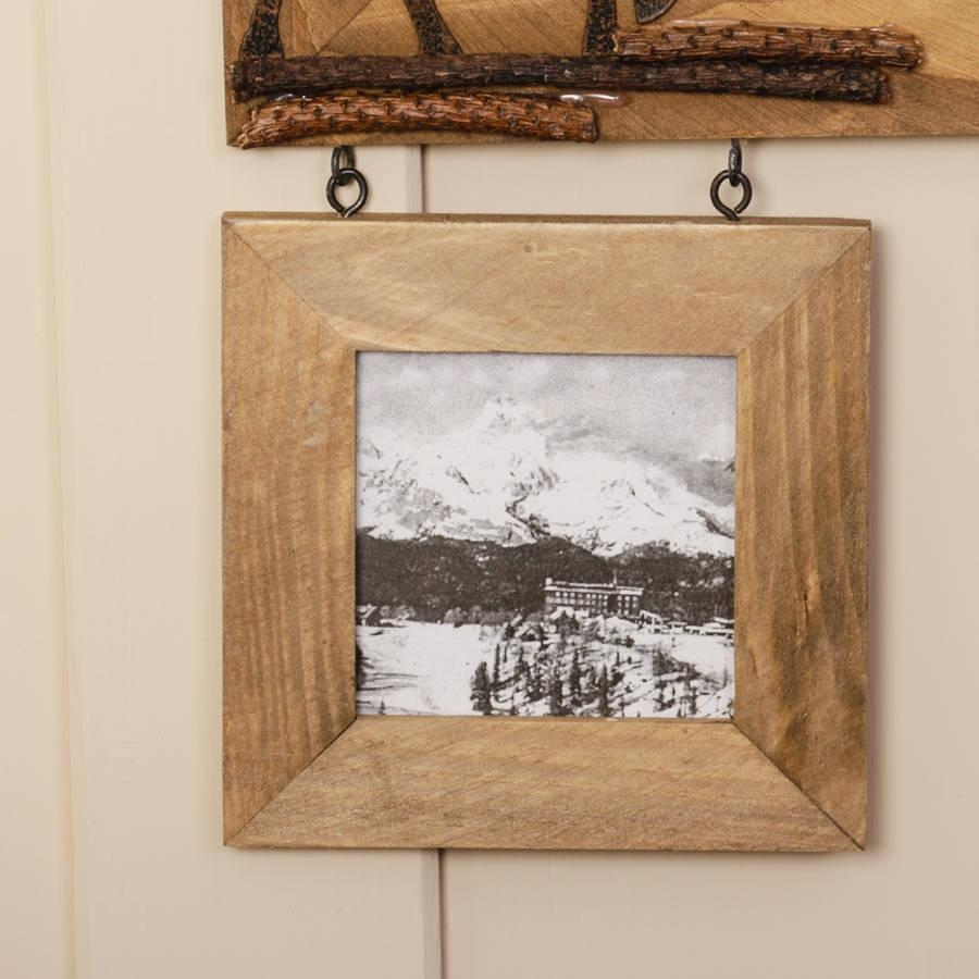 Wooden Wall Mirror With Deer Detail And Photo Framesdibor Pertaining To Wooden Mirror (Image 19 of 20)