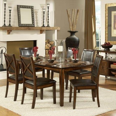 Woodhaven Hill Verona 7 Piece Dining Set & Reviews | Wayfair Pertaining To Verona Dining Tables (Image 20 of 20)