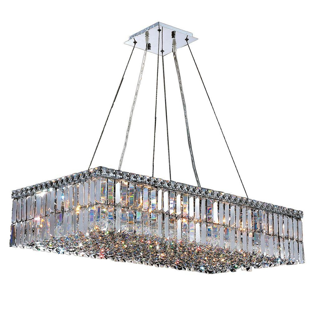 Worldwide Lighting Cascade Collection 16 Light Polished Chrome Throughout Chrome And Crystal Chandeliers (Image 23 of 25)