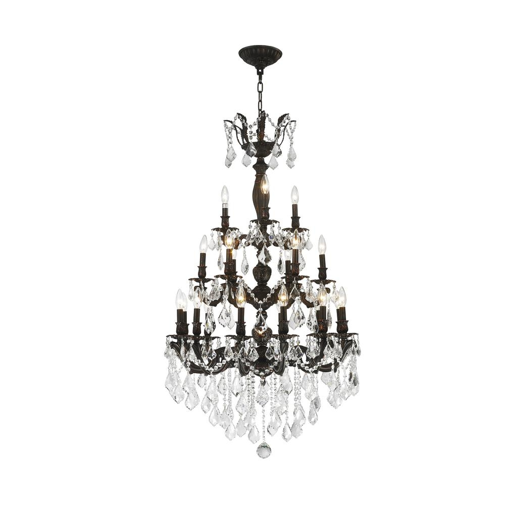Worldwide Lighting Versailles 21 Light Flemish Brass Crystal Throughout Flemish Brass Chandeliers (Image 19 of 25)