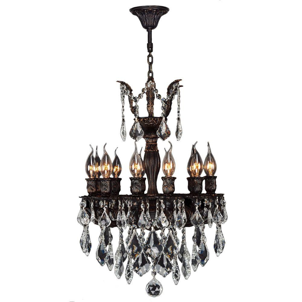 Worldwide Lighting Versailles Collection 12 Light Flemish Brass With Flemish Brass Chandeliers (Image 22 of 25)