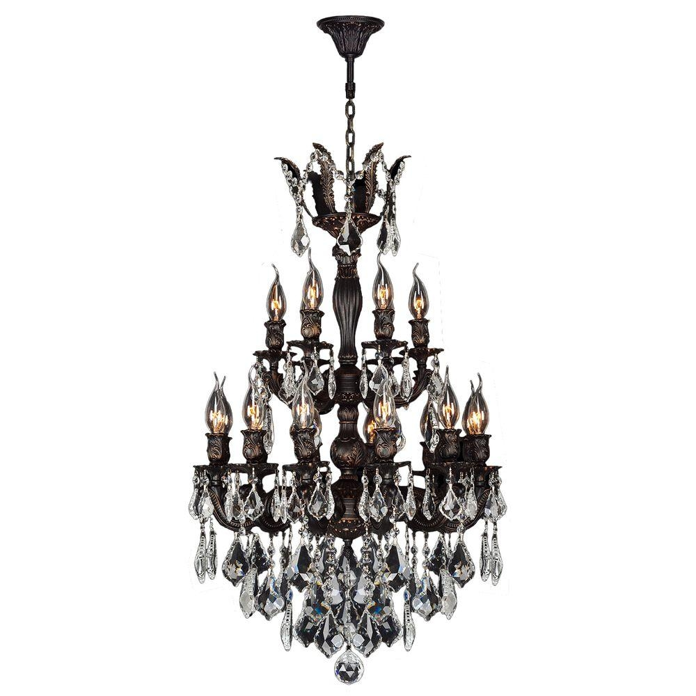 Worldwide Lighting Versailles Collection 18 Light Flemish Brass In Flemish Brass Chandeliers (Image 23 of 25)