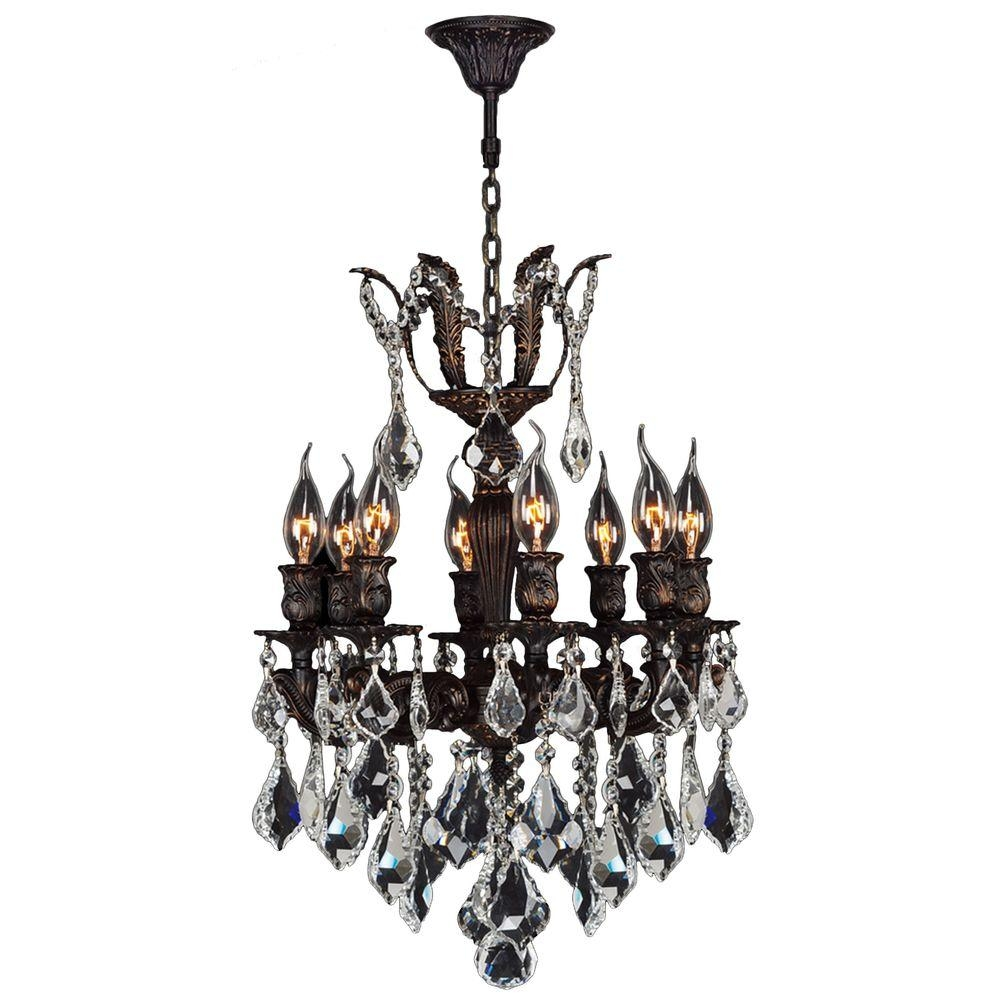 Worldwide Lighting Versailles Collection Chandelier 8 Light Pertaining To Flemish Brass Chandeliers (Image 25 of 25)