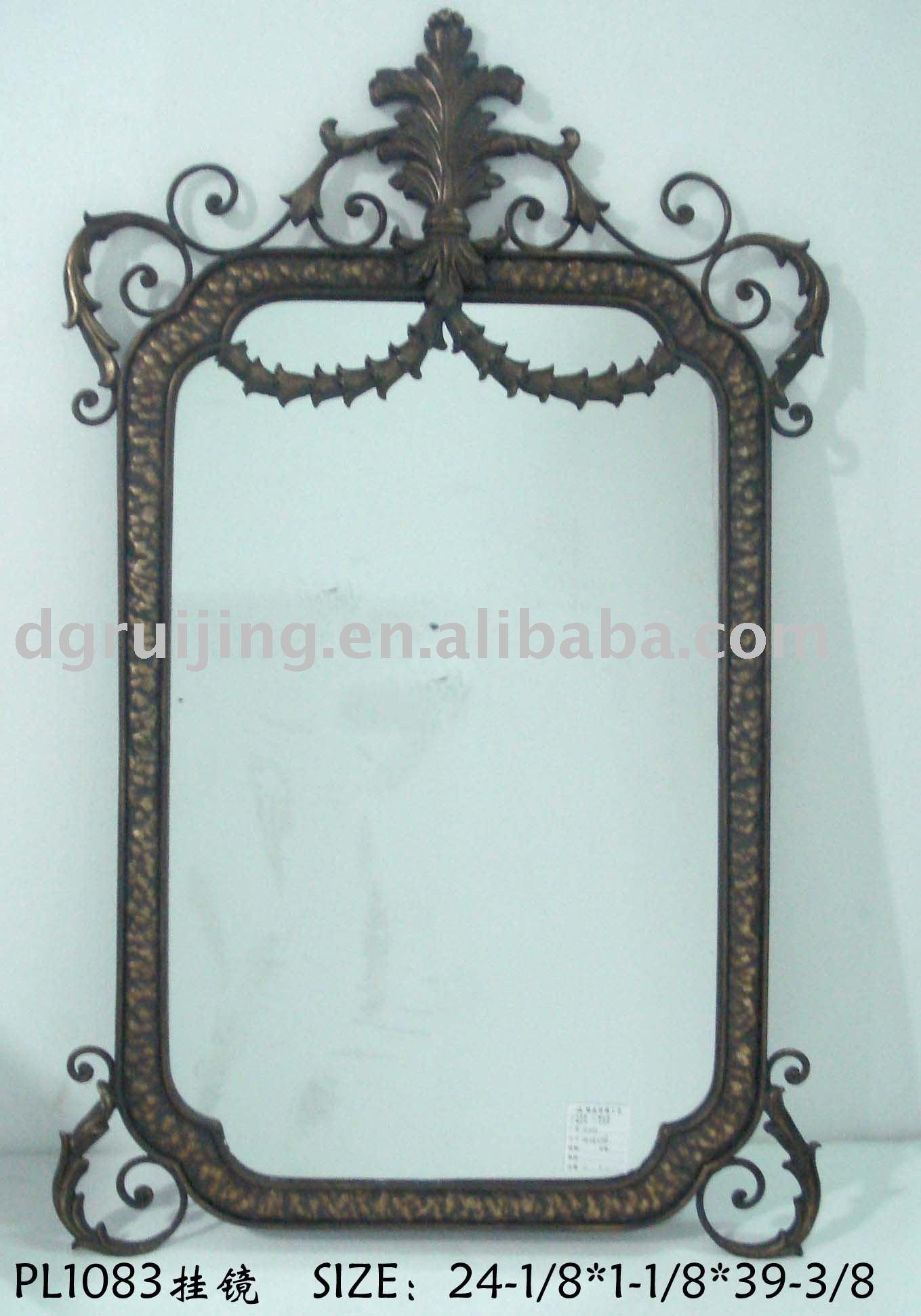 Wrought Iron Mirrors, Wrought Iron Mirrors Suppliers And Inside Rod Iron Mirrors (Image 19 of 20)