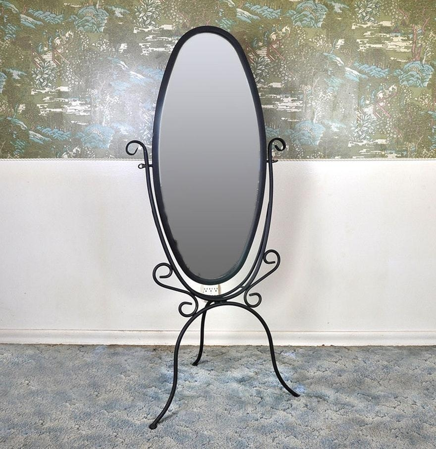 Wrought Iron Standing Mirror – Harpsounds (Image 14 of 20)