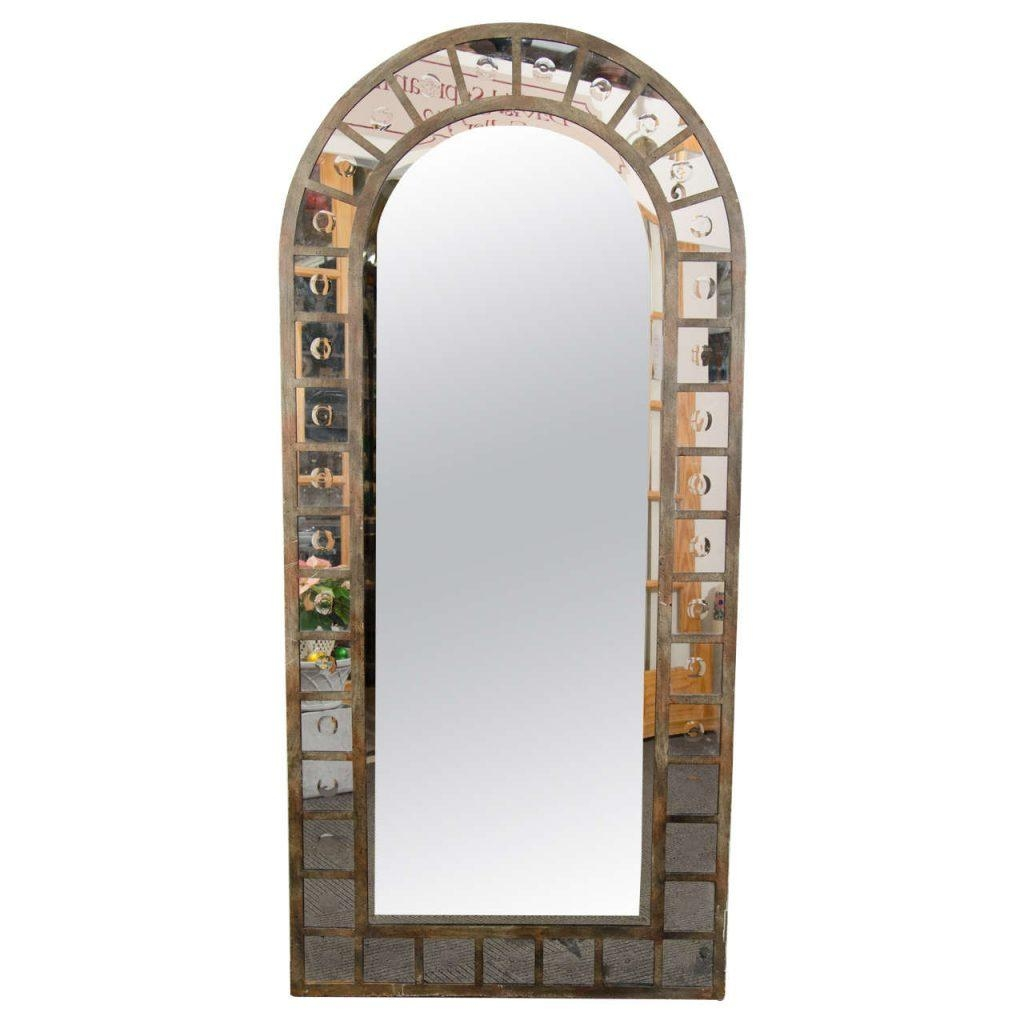Wrought Iron Standing Mirror – Harpsounds (Image 17 of 20)