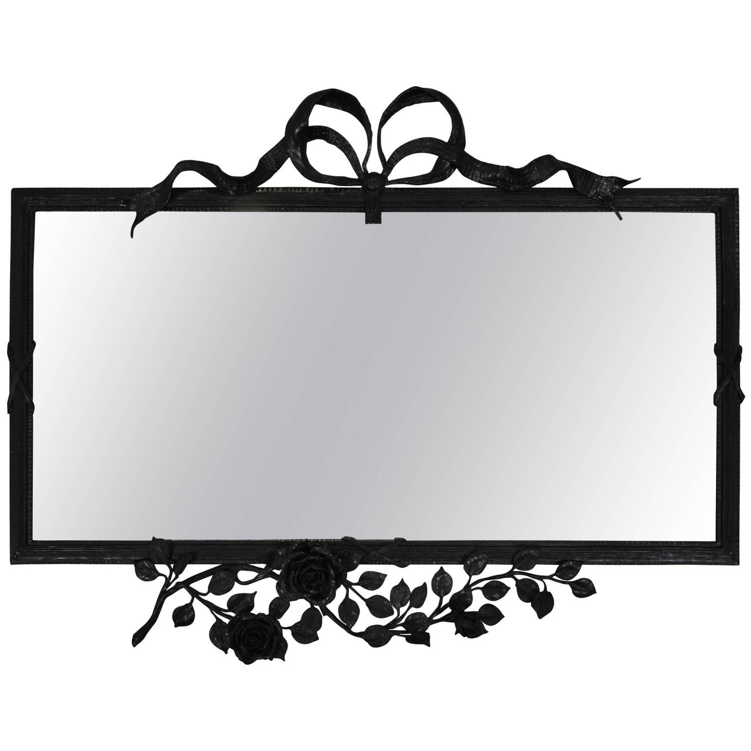 Wrought Iron Wall Mirrors – 73 For Sale At 1Stdibs With Rod Iron Mirrors (Image 20 of 20)