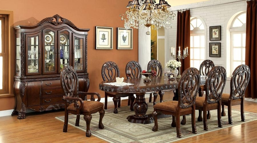 Wyndmere Royal Presence Cherry Finish Formal Dining Room Table 7 Pertaining To Royal Dining Tables (Image 20 of 20)