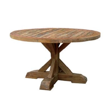Xena Reclaimed Teak Round Dining Table | Inspiring New Beginnings Regarding Round Teak Dining Tables (Photo 10 of 20)