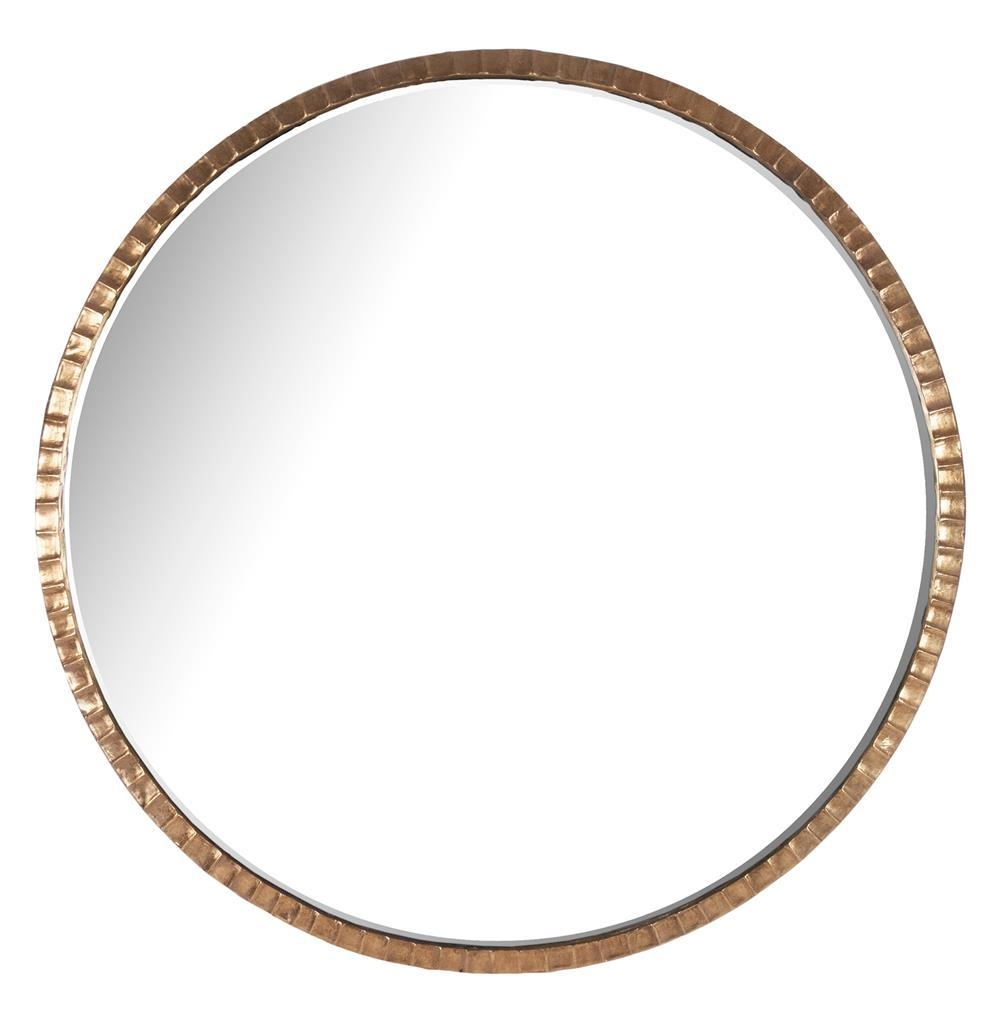 Yorkville Hollywood Regency Large Thin Round Wall Mirror | Kathy Throughout Large Circular Mirror (Image 20 of 20)