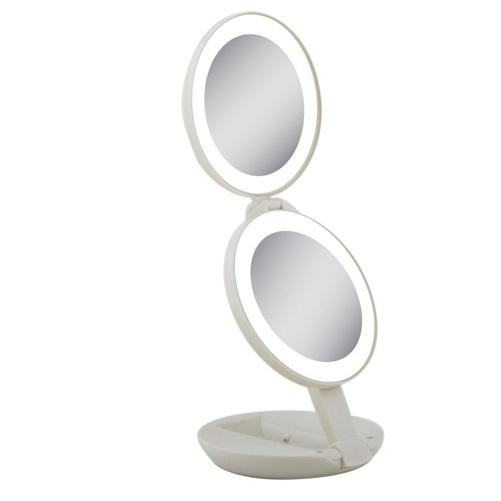 Zadro Next Generation Led Lighted Travel Mirror In Cream Ledt01 In Cream Mirrors (Photo 15 of 20)