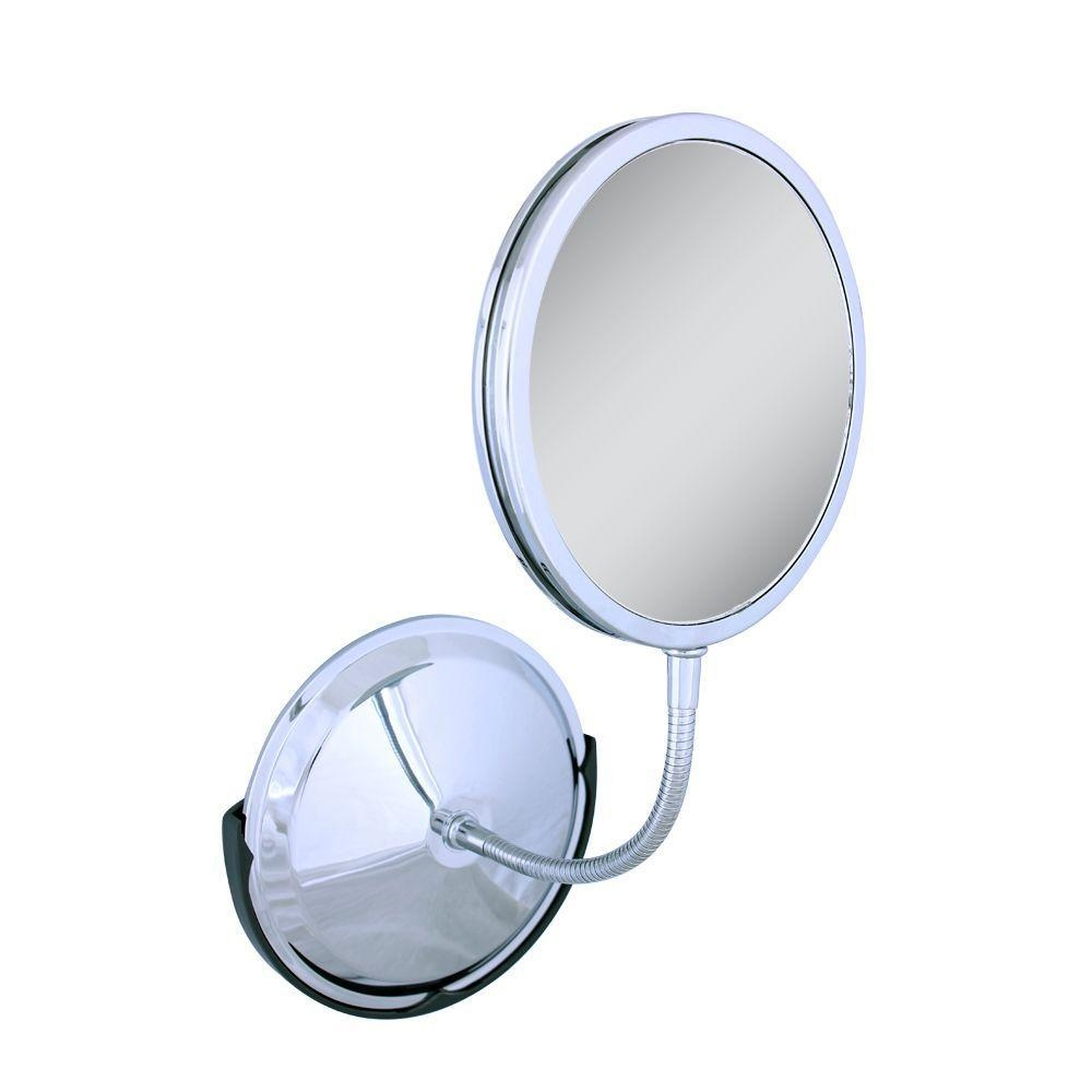 Zadro Tri Vision Gooseneck Vanity And Wall Mirror In Chrome Fg60 For Chrome Wall Mirror (Photo 18 of 20)