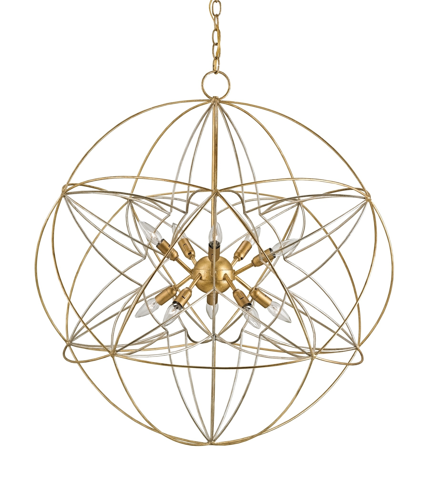 Zenda Orb Chandelier Currey Company Pertaining To Orb Chandeliers (Image 25 of 25)
