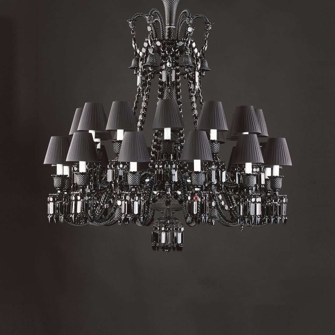 Zenith Black Chandeliers Baccarat Marymahoney With Regard To Short Chandelier Lights (Photo 10 of 25)