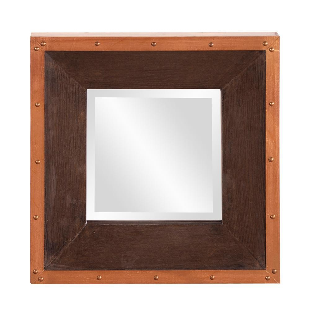 Zia Square Gold Mirror 53072 – The Home Depot For Square Gold Mirror (Image 18 of 20)