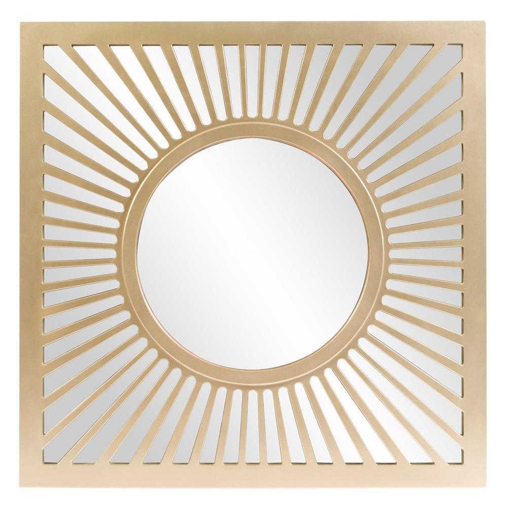 Zia Square Gold Mirror 53072 – The Home Depot Pertaining To Square Gold Mirror (Image 19 of 20)