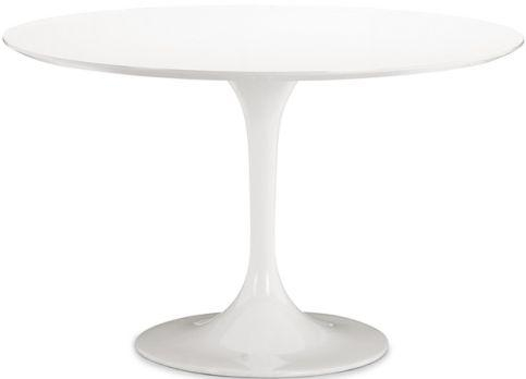 Zuo Modern 102173 Glossy Painted Round Top Table From The Wilco Throughout Round Acrylic Dining Tables (Photo 5 of 20)