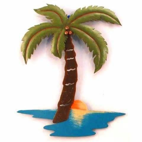 10 Best Beach Metal Art Images On Pinterest | Metal Walls, Coastal Inside Palm Tree Metal Art (Image 1 of 20)