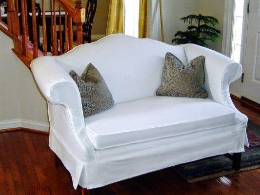 10 Best Camelback Sofa Re Do Images On Pinterest | Sofa Slipcovers Pertaining To Camelback Slipcovers (View 9 of 20)
