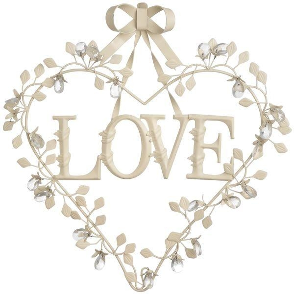 10 Best Hearts Images On Pinterest | Heart Wall Art, Love Heart Intended For Cream Metal Wall Art (Image 1 of 20)