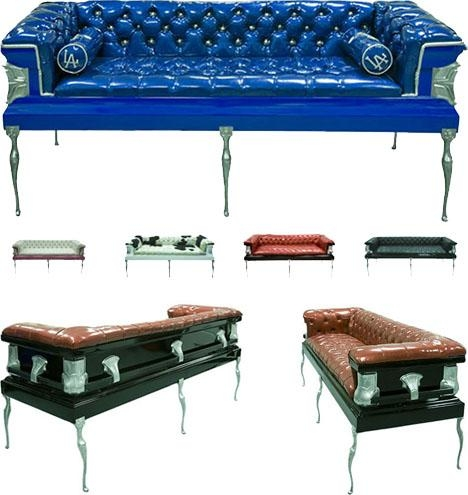 10 Coffin Furniture Ideas: Caskets Couches To Death Desks For Coffin Sofas (Image 1 of 20)