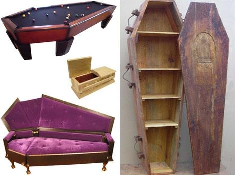 10 Coffin Furniture Ideas: Caskets Couches To Death Desks Inside Coffin Sofas (Image 3 of 20)