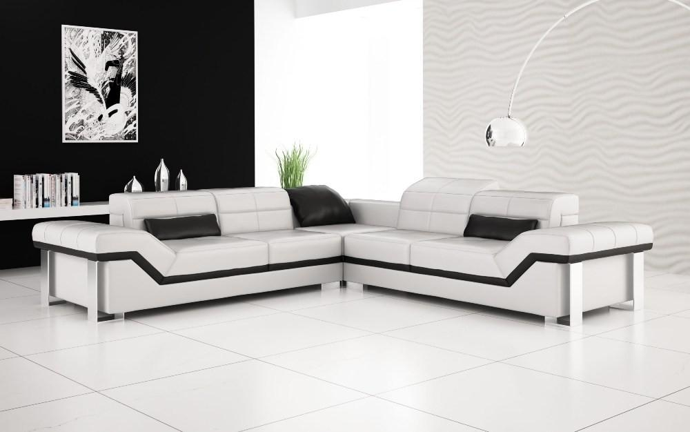 10 Luxury Leather Sofa Set Designs That Will Make You Excited Intended For Black And White Leather Sofas (Image 1 of 20)