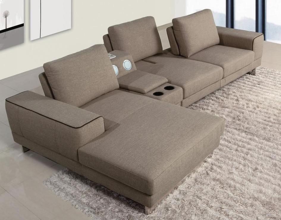 10 Outstanding Affordable Sectional Sofa Picture Ideas : Lawsh With Regard To Sofas With Drink Holder (Image 1 of 20)